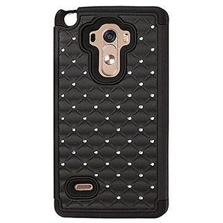 Reiko Carrying Case for LG G Stylo, LG LS770, LG G4 - Retail Packaging - Black/Dull Black