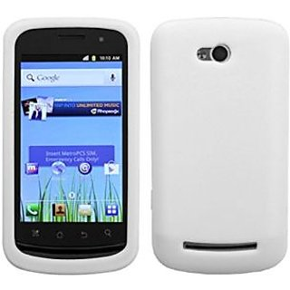 Asmyna CP5860ECASKSO001 Slim and Soft Durable Protective Case for Coolpad Quattro 4G - 1 Pack - Retail Packaging - White