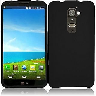 HR Wireless Rubberized Cover for LG G2 - Retail Packaging - Black
