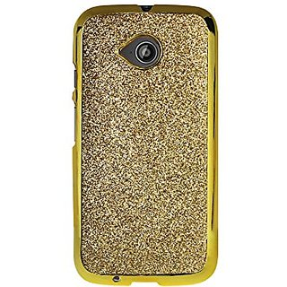 Reiko Cell Phone Case for Motorola Moto E LTE 2nd Gen, XT1527, XT1511, XT1505 - Retail Packaging - Gold