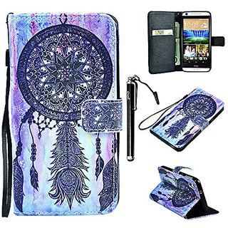 HTC Desire 626 Case, 626s Wallet Case, UrSpeedtekLive Dream Catcher Pattern Premium PU Leather Flip Wristlet Wallet Case