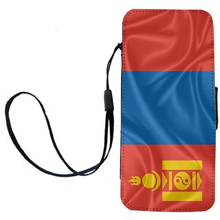 Rikki Knight Mongolia Flag Flip Wallet iPhoneCase with Magnetic Flap for iPhone 5/5s - Mongolia Flag