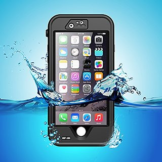 iPhone 6s Case, iThroughTM Stand Function iPhone 6s 6 Waterproof Case, Dust Proof, Snow Proof, Protective Carrying Cover