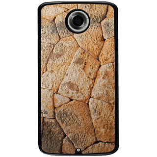 Ayaashii Rocks Pattern Back Case Cover for Motorola Google Nexus 6