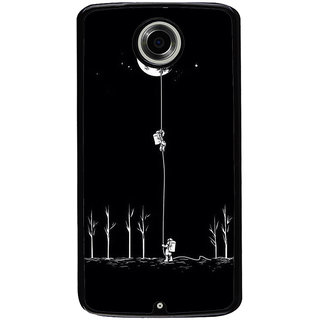 Ayaashii Astronauts Are Climbilng To Moon  Back Case Cover for Motorola Google Nexus 6