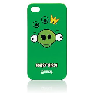 Gear4 Angry Birds Case for iPhone 4 - Pig King - 1 Pack - Retail Packaging - Green