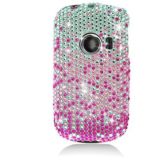 Eagle Cell PDHWM835F380 RingBling Brilliant Diamond Case for Huawei M835 - Retail Packaging - Pink Waterfall