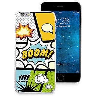 HelloGiftify Cartoon Boom Bang Style Comic Case Plastic Hard Case Thin Cover for iPhone 6 (4.7