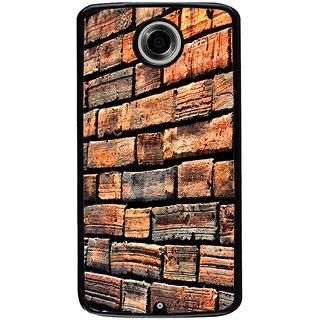 Ayaashii Bricks Pattern Back Case Cover for Motorola Google Nexus 6