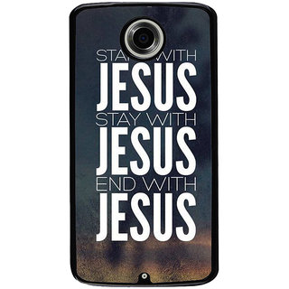 Ayaashii Start With Jesus Back Case Cover for Motorola Google Nexus 6