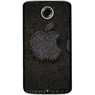 Ayaashii Apple Logo Designed In Jeans Back Case Cover for Motorola Google Nexus 6