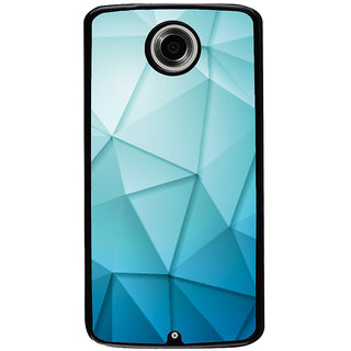 Ayaashii Triangle Shaded Pattern Back Case Cover for Motorola Google Nexus 6