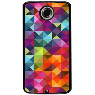 Ayaashii Box Pattern Back Case Cover for Motorola Google Nexus 6