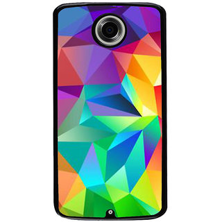 Ayaashii Triangle Shaded Pattern Back Case Cover for Motorola Google Nexus 6