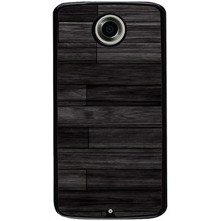 Ayaashii Wooded Layered Pattern Back Case Cover for Motorola Google Nexus 6