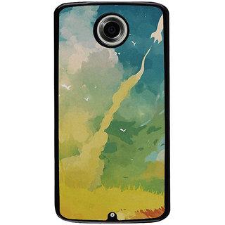 Ayaashii Rocket On Sky Painting Back Case Cover for Motorola Google Nexus 6