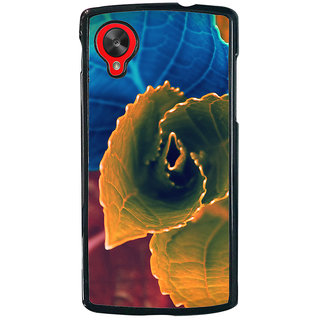 Ayaashii Colorful Leafs Back Case Cover for LG Google Nexus 5::LG Google Nexus 5 (2014 1st Gen)