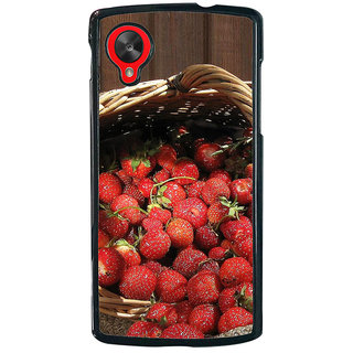 Ayaashii Litchi Basket Back Case Cover for LG Google Nexus 5::LG Google Nexus 5 (2014 1st Gen)
