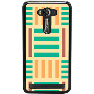 Ayaashii Horizontal Vertical Stripes Back Case Cover for Asus Zenfone Selfie::Asus Zenfone Selfie ZD551KL