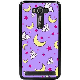 Ayaashii Moon Star Rabbit Pattern Back Case Cover for Asus Zenfone Selfie::Asus Zenfone Selfie ZD551KL