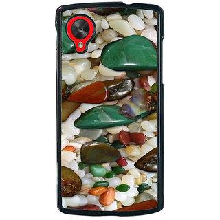 Ayaashii Sea Glass Stones Back Case Cover for LG Google Nexus 5::LG Google Nexus 5 (2014 1st Gen)