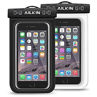 Waterproof Case, Ailkin 2-Pack Universal Dry Bag Case for iPhone 6, 6s, 6s Plus, 6 Plus, Samsung Galaxy S6, S7, Sony, LG