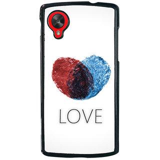 Ayaashii Love Back Case Cover for LG Google Nexus 5::LG Google Nexus 5 (2014 1st Gen)