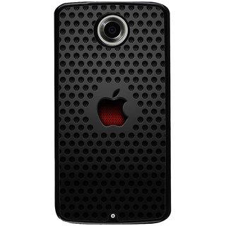 Ayaashii Apple Logo Back Case Cover for Motorola Google Nexus 6