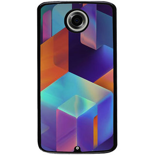 Ayaashii Box Layout Back Case Cover for Motorola Google Nexus 6