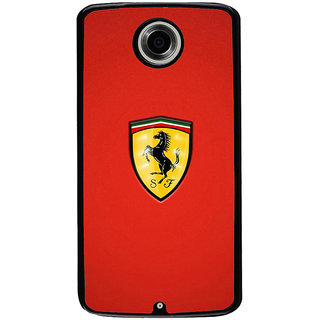 Ayaashii Ferari Symbol Back Case Cover for Motorola Google Nexus 6