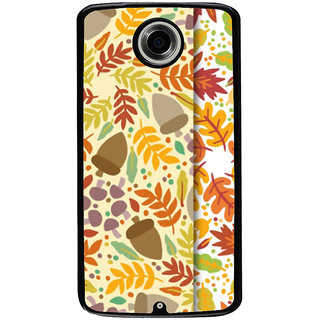 Ayaashii Leaf Pattern Back Case Cover for Motorola Google Nexus 6