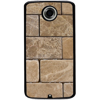 Ayaashii Marble Bricks Pattern Back Case Cover for Motorola Google Nexus 6