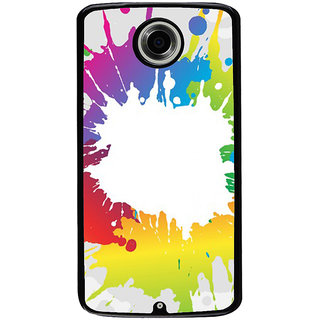 Ayaashii Colors Spread Back Case Cover for Motorola Google Nexus 6
