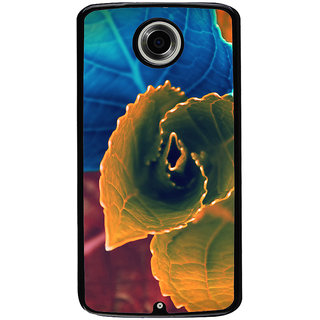 Ayaashii Colorful Leafs Back Case Cover for Motorola Google Nexus 6