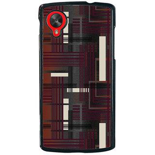 Ayaashii Lines Abstract Back Case Cover for LG Google Nexus 5::LG Google Nexus 5 (2014 1st Gen)