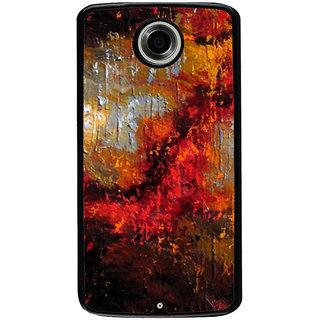 Ayaashii Colorful Painting Back Case Cover for Motorola Google Nexus 6