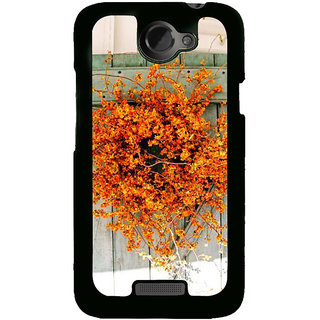 Ayaashii Yellow Flower Pot Back Case Cover for HTC One X::HTC One XT::HTC 1X