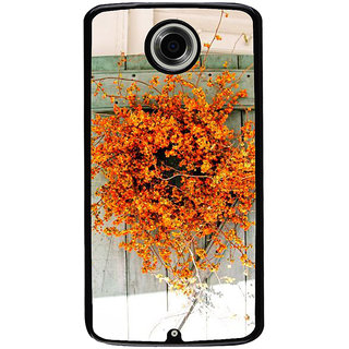 Ayaashii Yellow Flower Pot Back Case Cover for Motorola Google Nexus 6