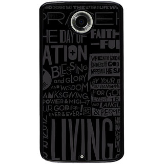 Ayaashii Blessing And Glory Back Case Cover for Motorola Google Nexus 6
