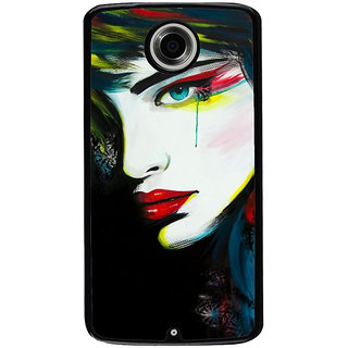 Ayaashii Crying Girl Painting Back Case Cover for Motorola Google Nexus 6