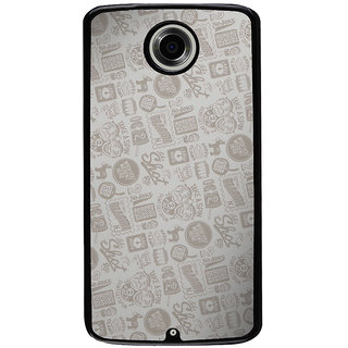 Ayaashii Quotes/Messages Pattern Back Case Cover for Motorola Google Nexus 6
