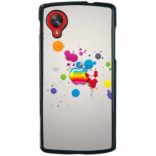 Ayaashii Colorful Apple Logo Back Case Cover for LG Google Nexus 5::LG Google Nexus 5 (2014 1st Gen)