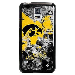NCAA Iowa Hawkeyes Paulson Designs Spirit Case for Samsung Galaxy S5, Slim, Black