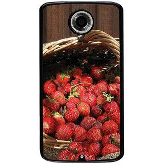 Ayaashii Litchi Basket Back Case Cover for Motorola Google Nexus 6