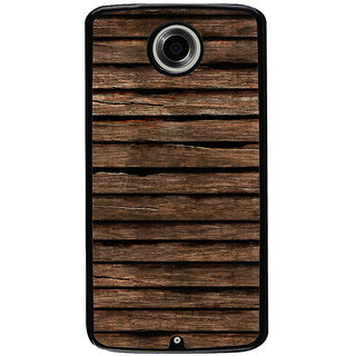 Ayaashii Old Wooden Stripes Back Case Cover for Motorola Google Nexus 6