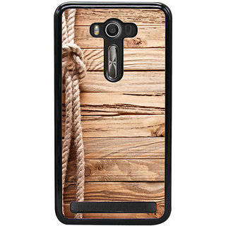 Ayaashii Rope On Wood Back Case Cover for Asus Zenfone Selfie::Asus Zenfone Selfie ZD551KL