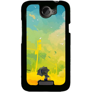 Ayaashii A Man With Umbrella Painting Back Case Cover for HTC One X::HTC One XT::HTC 1X