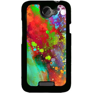 Ayaashii Colorful Painting Back Case Cover for HTC One X::HTC One XT::HTC 1X