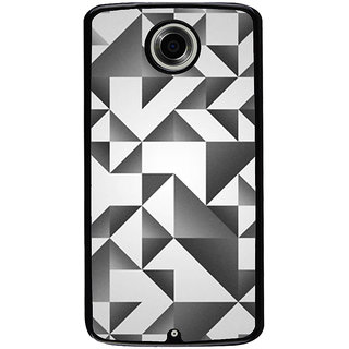 Ayaashii Black And White Abstract Back Case Cover for Motorola Google Nexus 6