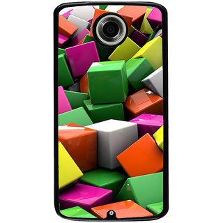 Ayaashii Colorful Cubes Back Case Cover for Motorola Google Nexus 6